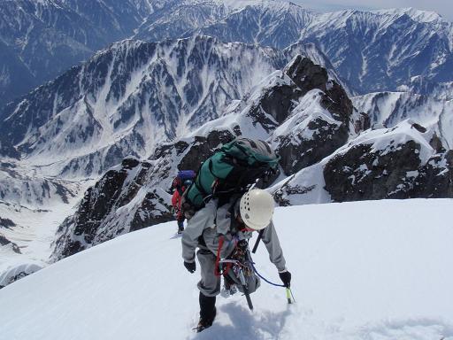 Ⅵ峰の登り