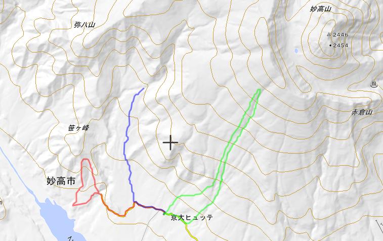 スキー合宿地図